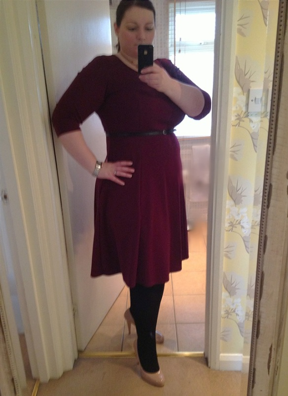 Work outfit - burgandy dress